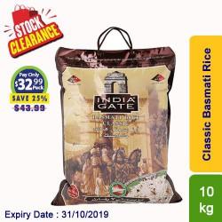 India Gate Classic Basmati Rice 10kg Clearance Sale