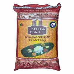 India Gate Sona Masoori Rice 20kg