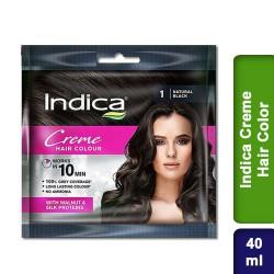 Indica Creme Hair Color Natural Black