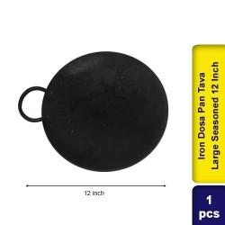 Iron Dosa Pan Tava Small Semi Seasoned 12 Inch