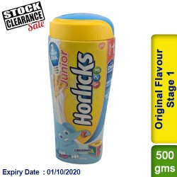 Junior Horlicks Original Flavour Stage 1  Health and Nutrition drink Clearance Sale