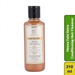 Khadi Natural Herbal Henna Tulsi Extra Conditioner Hair Cleanser 210ml