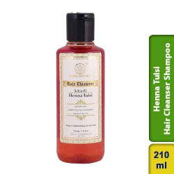 Khadi Natural Herbal Henna Tulsi Hair Cleanser Shampoo 210ml