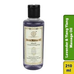 Khadi Natural Lavender & Ylang Ylang massage Oil 210ml