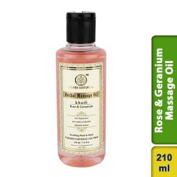 Khadi Natural Rose & Geranium Massage oil 210ml