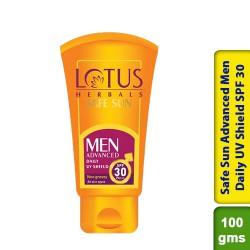 Lotus Safe Sun Advanced Men Daily UV Shield SPF 30 100g