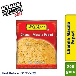 Mother's Channa Masala Papad Clearance Sale