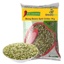Mung Moong Beans Split Chilka 1Kg M&J