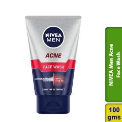 NIVEA Men Acne Face Wash for Oily & Acne Prone Skin 100g