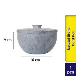 Natutal Stone Curd Pot 1ltr