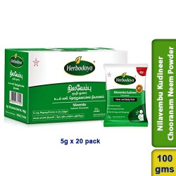 Nilavembu Kudineer Chooranam Neem Powder 100g (5g x 20 pack)