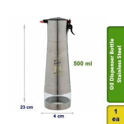 Oil Pourer Dispenser Container Bottle Stainless Steel 500ml