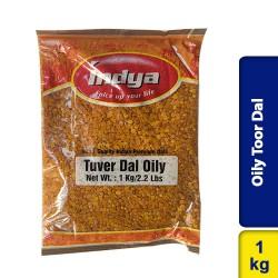Oily Toor Dal (Tuver Dal, Tuvar Dal) 1Kg Indya
