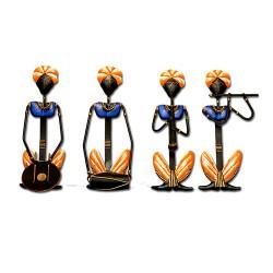 Orange Musician Set of 4, 15 x 7 inch