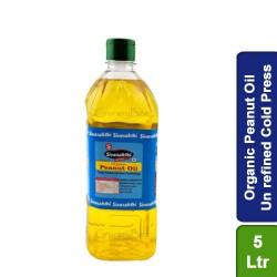 Organic Peanut Oil Un refined Cold Press 5 Ltr