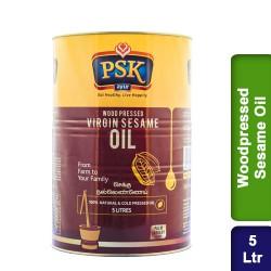 PSK Ayur Wood Cold Pressed Virgin Gingelly Sesame Oil 5 Ltr