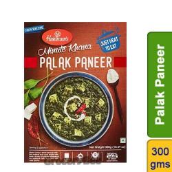 Palak Paneer Minute Khana Quick Meal Haldirams 300g Ready to Eat