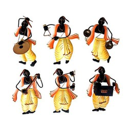 Pandit Musician Set Of 6, 10 X 07 Inch