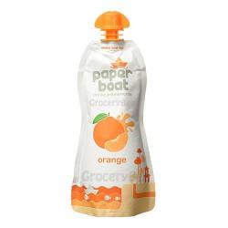 Orange Juice Paper Boat