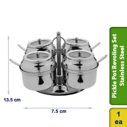 Pickle Pot Revoling Set Cup 4 in 1 Stainless Steel