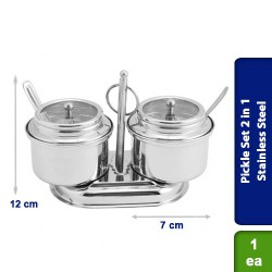 Pickle Set 2 in 1 See Through Lid Stainless Steel