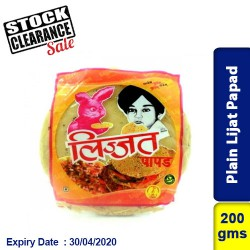 Plain Lijat Papad 200g Clearance Sale