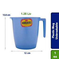 Plastic Mug Unbreakable 1.25 Ltr