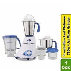 Preethi Blue Leaf Platinum 750w 4 Jar Mixer Grinder