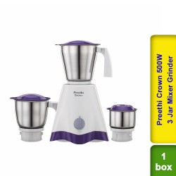 Preethi Crown 500W 3 Jar Mixer Grinder