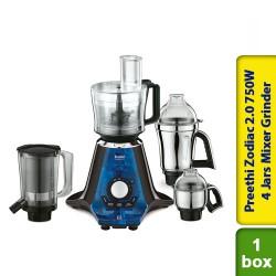 Preethi Zodiac 2,0 Mixer Grinder 750W 4 Jars Mixer Grinder