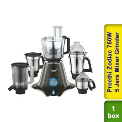 Preethi Zodiac Mixer Grinder 750W 5 Jars Mixer Grinder