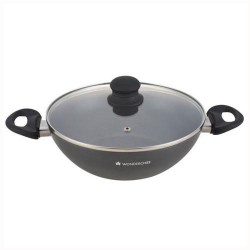 Premia 28cm Wok with lid Wonderchef
