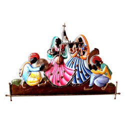 Rajasthani Dancing 4 People, 28 X 16 Inch