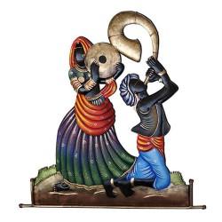 Rajasthani Dancing Couple, 28 X 21 Inch