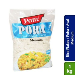 Rice Flakes / Poha / Aval Medium 1 Kg Pattu