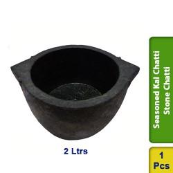 Seasoned Kal Chatti / Stone Chatti 2 Ltrs