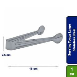 Serving Tongs Large Stainless Steel 16cm