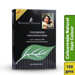 Shahnaz Husain Blackish Brown Colourveda Natural Hair Colour 100g