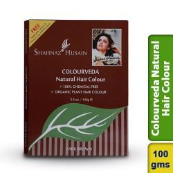 Shahnaz Husain Dark Brown Colourveda Natural Hair Colour 100g