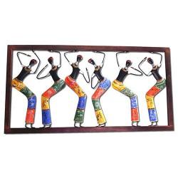 Six African Lady Dancer, 18 X 32 Inch