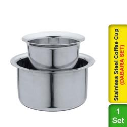 Coffee Dabara Set Stainless Steel  Davara Tumbler Traditional