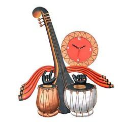Tabla Sitar Wall Clock, 20 X 15 Inch