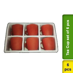 Tea Coffee Cup Set 6 pcs Earthen Clay