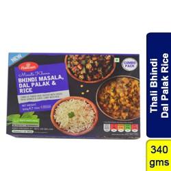 Thali Bhindi Masala Dal Palak Rice Haldirams Ready to Eat Frozen