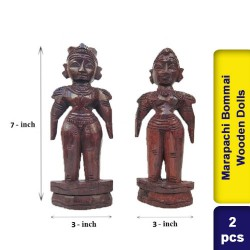 Traditional Marapachi Bommai Golu Wooden Dolls