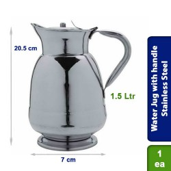 Water Jug with strong handle Stainless Steel 1.5 Ltrs