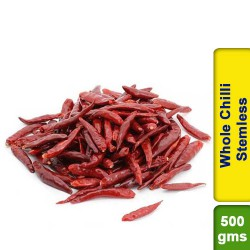 Whole Red Chilli Stemless 500g