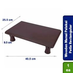 Wooden Manai Palakai Patla Rectangular 16 x 10 Hight Leg