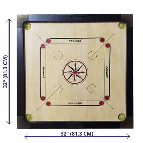Carrom Board  Medium 32'' with Coin & Striker
