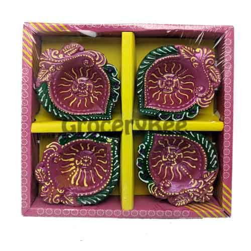 Fancy Diya 4pc Without Wax 6321